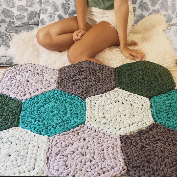 Tachuelas diy co tutorial alfombra trapillo con - Tutorial alfombra trapillo ...