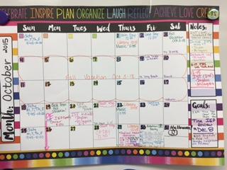 teacher paper calendar