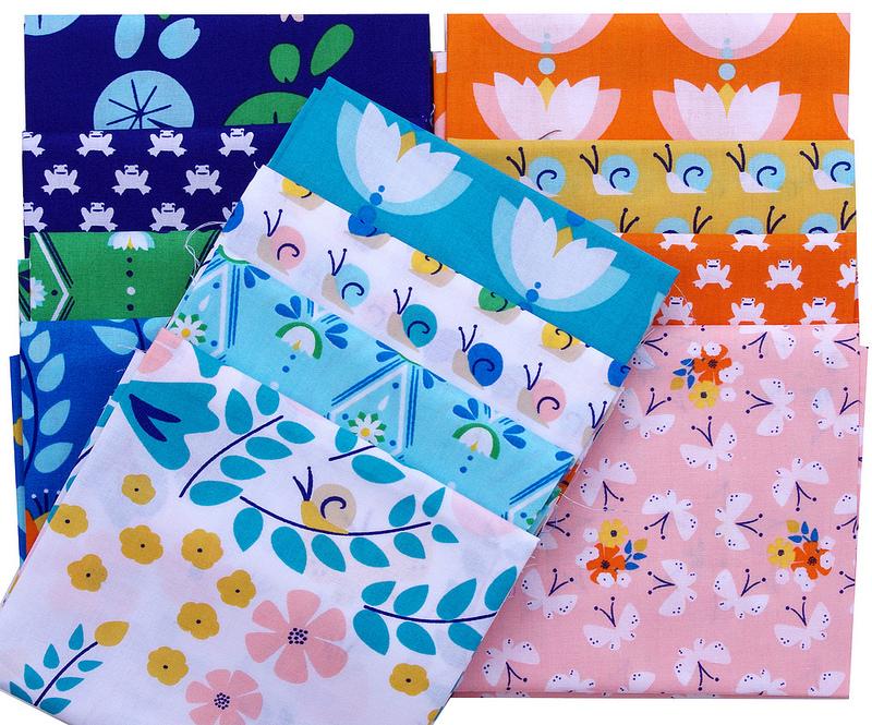 Lotus Pond by Rae Hoekstra for Cloud9 Fabrics