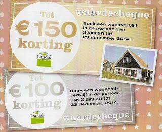 www.landal.nl/kerst32l www.landal.nl/kerst22l 150 en 100 euro korting