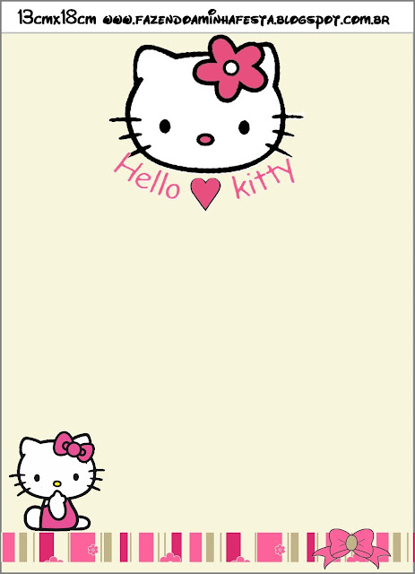 Hello Kitty with Flowers, envelope
