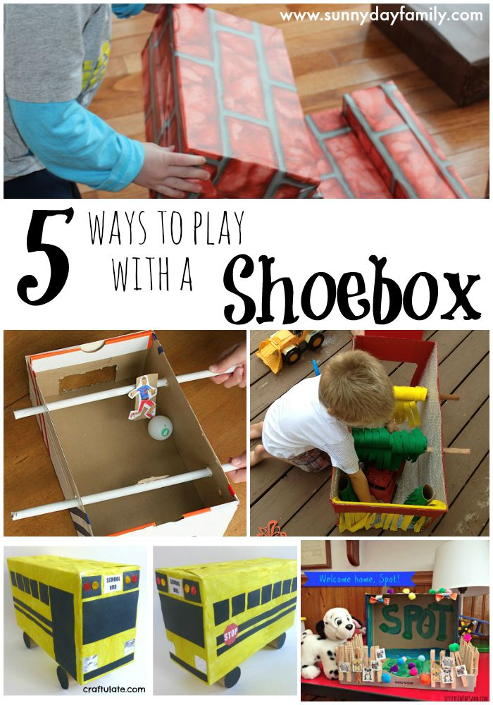 Don't throw away your shoeboxes, make them into one of these super fun toys!