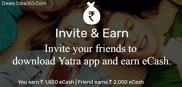 Yatra App Loot Rs2000 On Signup+Rs1500 on Refer (Redeem In Amazon,BMS Vouchers)