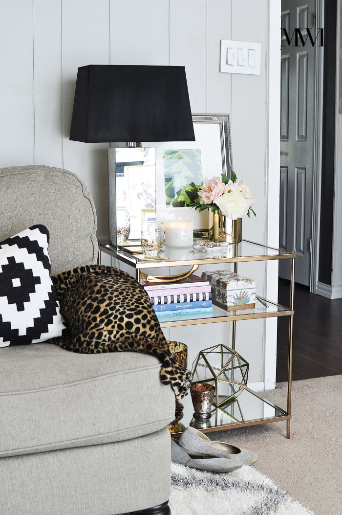 5 Must Have Decor Items for End Table Styling   Monica ...