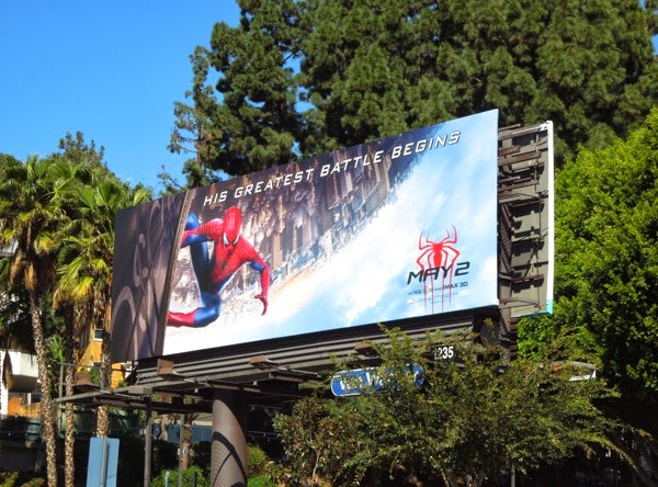 Amazing Spiderman 2 billboard