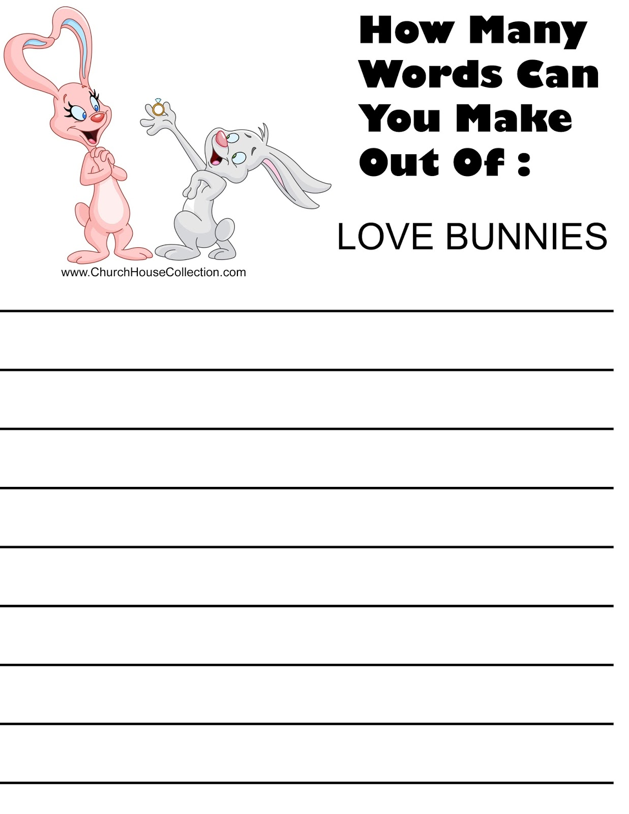 Church House Collection Blog: Valentine Worksheet For Kids: How Many ...