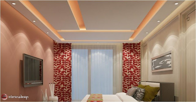 Gypsum Bedroom Designs 13