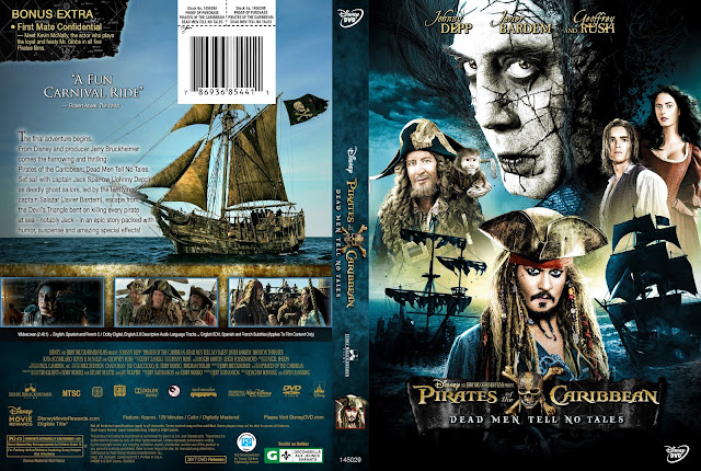 Pirates Of The Caribbean Dead Men Tell No Tales DVD Cover
