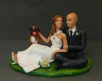 idea regalo coppia matrimonio statuette per torta matrimoniale orme magiche