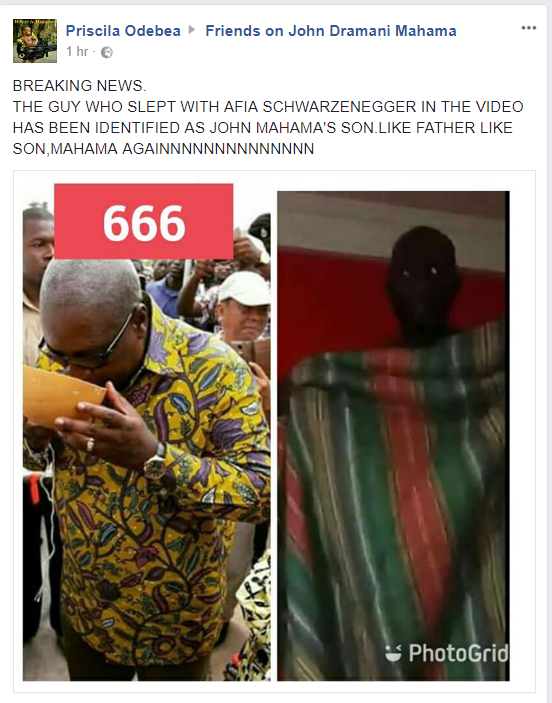 The Guy Who Slept With Afia Schwarzenegger Is Ex Prez Mahama's Son