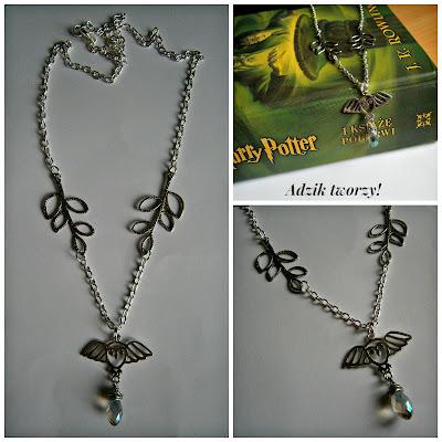 biżuteria Harry Potter Hedwiga naszyjnik