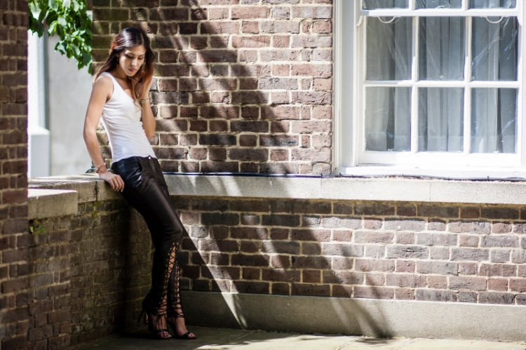 Euriental - luxury travel & style, PINGHE leather lace up trousers