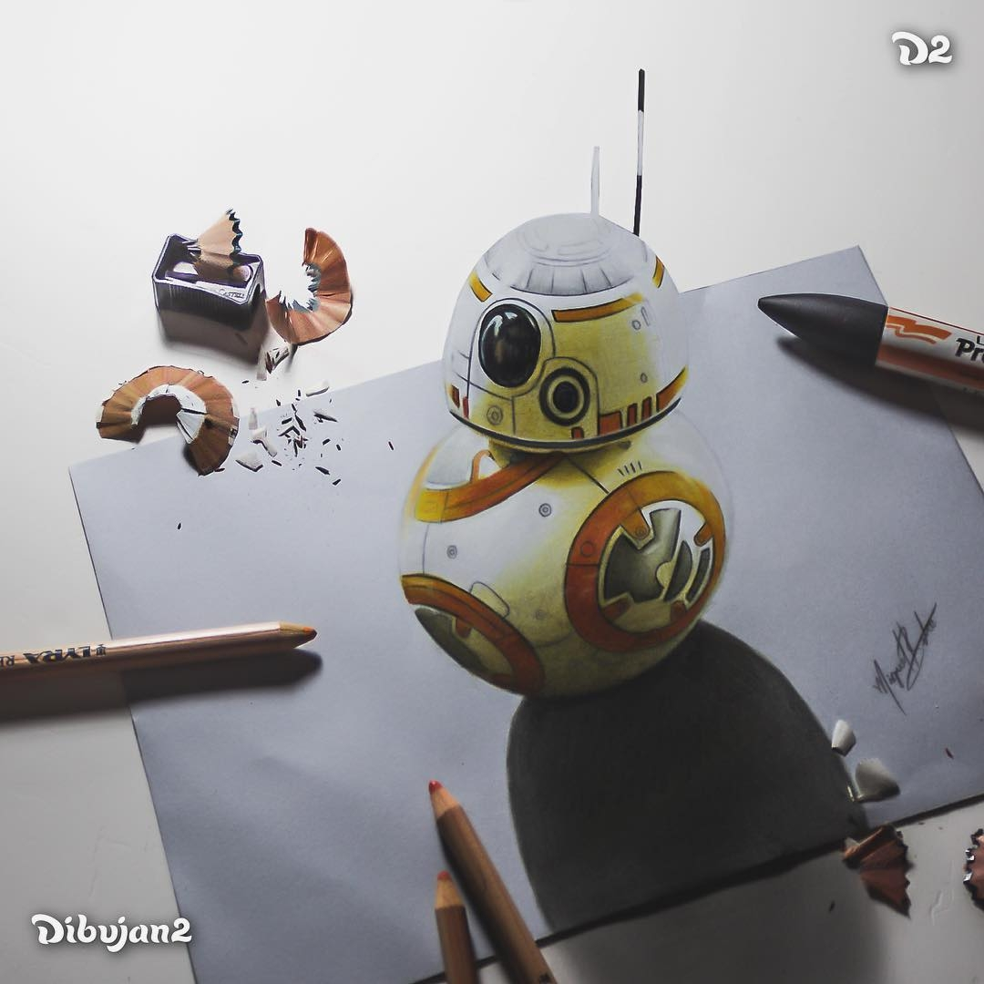 05-BB-8-Star-Wars-Miguel-Brito-3D-Illusions-with-Drawings-and-Illustration-www-designstack-co
