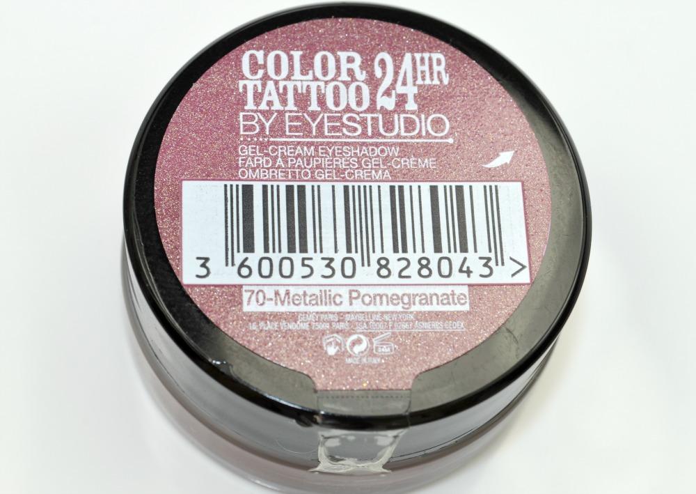 Maybelline Metallic Pomegranate 24H Color Tattoo