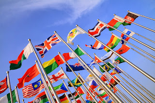 Flags at the United Nations.