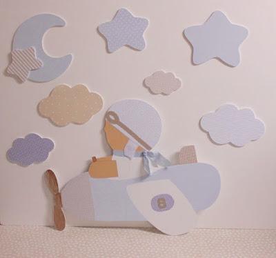 silueta infantil decoración Aviador