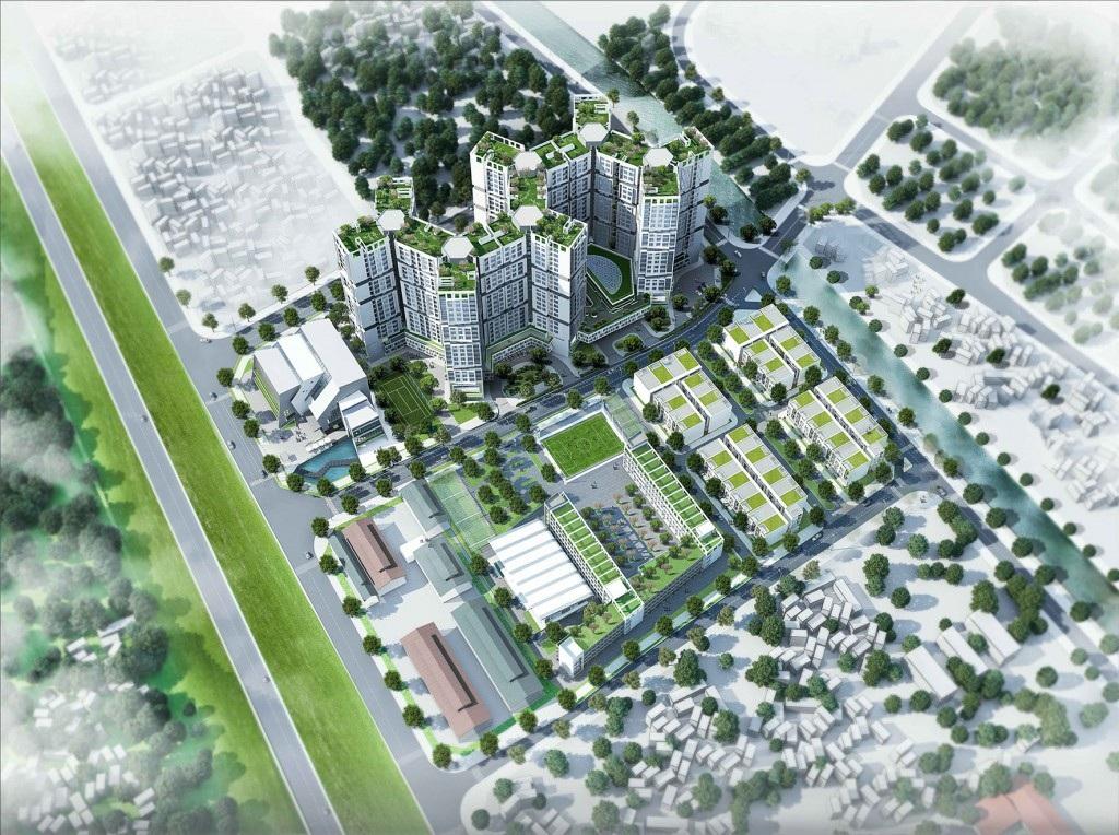 Dự án chung cư Đức Giang Long Biên có quần thể đa dạng.