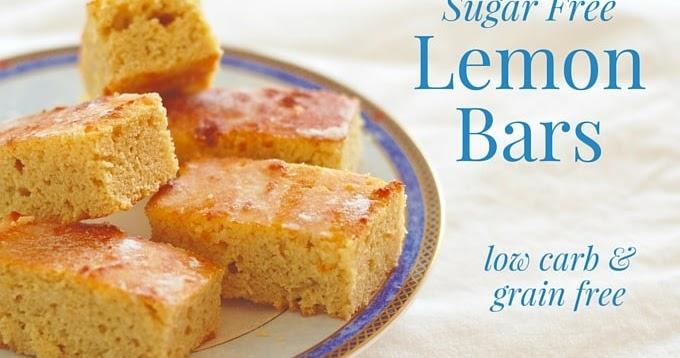 Diabetic Sponge Cake Recipes Uk: The Low Carb Diabetic: Lemon 'Sponge' Cake Bars : Low Carb