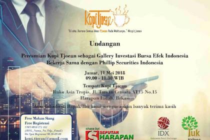 Kopi Tjoean Sebagai Gallery Investasi Bursa Efek Indonesia di Harapan Indah