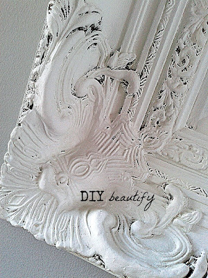 Ornate Frame Turned Chalkboard www.diybeautify