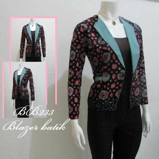 Gambar Baju Batik Kantor Wanita: Aneka Model Baju Kerja Wanita Blazer Batik, Modern