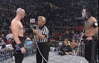 WCW Mayhem 1999 - Berlyn and Vampiro battled in a crappy dog collar match