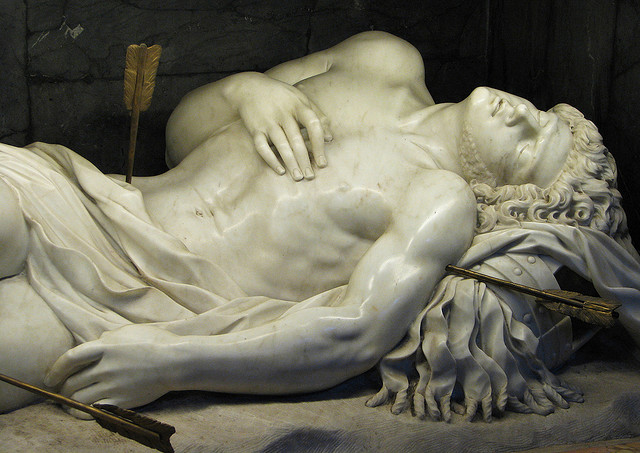 sculpture of Saint Sebastian