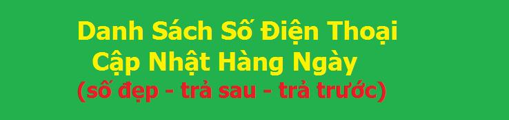danh sach so dien thoai