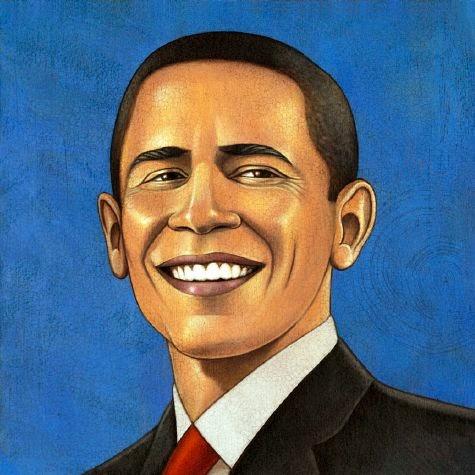 Barack Obama - Grandes personalidades pintada por Marc Burckhardt