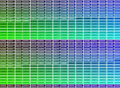 Html i codici esadecimali di tutti i colori for Tabella per mescolare i colori