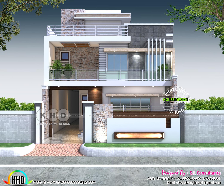 3400 Sq Ft Contemporary Style 7 Bedroom House Plan Kerala Home Design Bloglovin