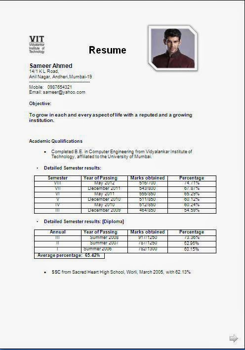 final year student resume format student resume best sample resume curriculum vitae student example - Free Student Resume