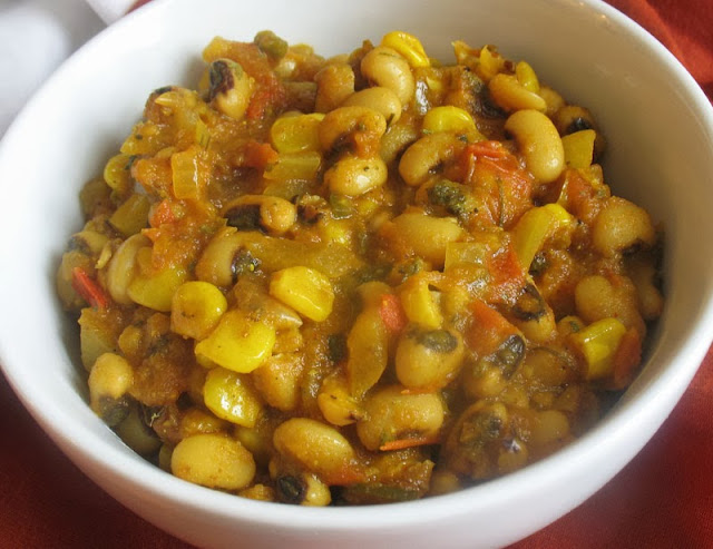 black-eyed pea curry with corn