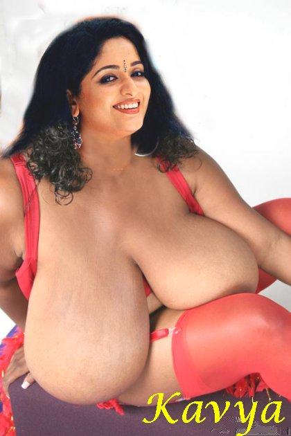 Kavya Madhavan Big Saggy Boobs Hanging Photo Without Bra -5910
