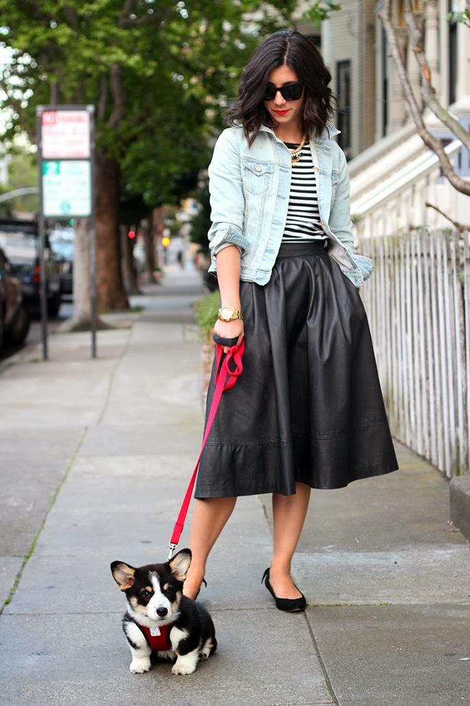49a266f62f ♥En cuero también me gusta muchísimo y siempre había visto esta falda con  tacón pero aquí la