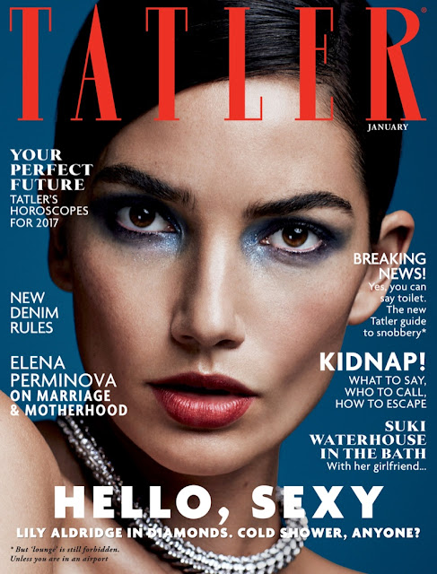 Fashion Model, @ Lily Aldridge - Tatler UK January 2017