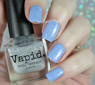 Vapid Lacquer Super Sonic over China Glaze Boho Blues