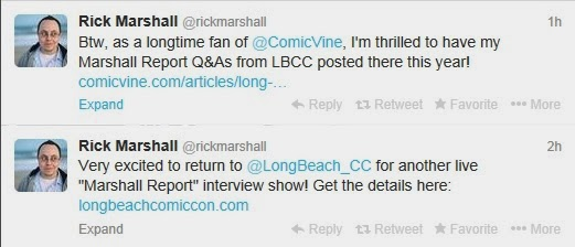 Marshall Report fan Q&A interview professional geek ComicVine