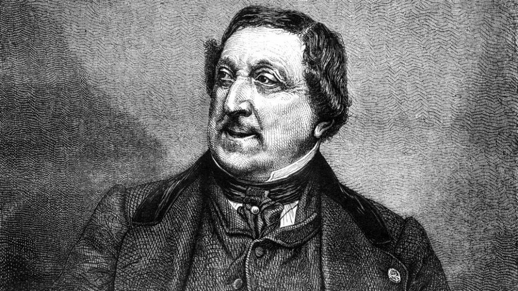 ARTS IN ACTION: Italian composer GIOACHINO ROSSINI (1792 - 1868), whose 1822 opera ZELMIRA will be performed in concert by Washington Concert Opera on Friday, 5 April 2019 [Image from a Nineteenth-Centry engraving]
