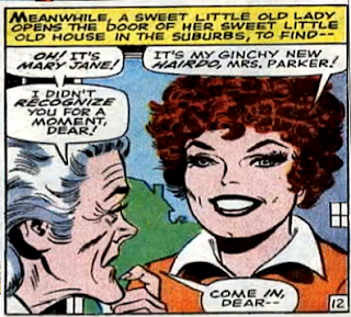 Amazing Spider-Man #64, john romita, aunt may avoides having a heart attack, despite being confronted by mary jane watson's terrible new hairstyle