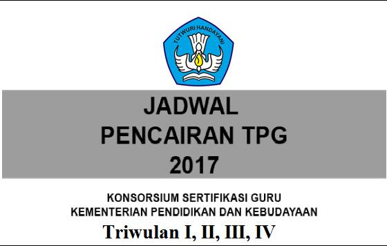 JADWAL PENCAIRAN TPG TRIWULAN I, II, III DAN IV TAHUN 2017 TERBARU