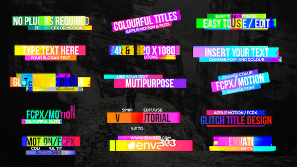 Preview%2BImage Colourful Glitch Titles 2 Videohive – Free After Effects Template download