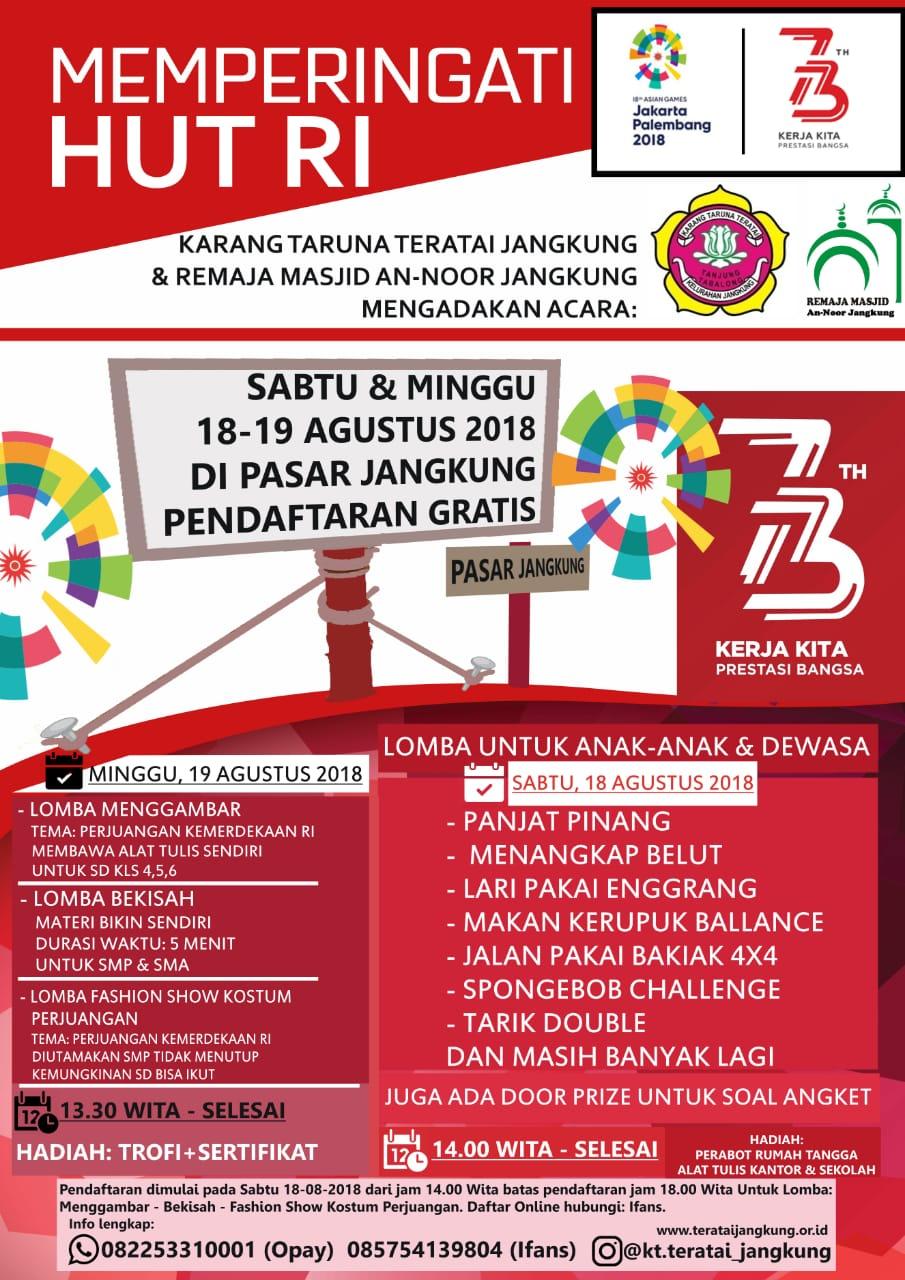 Poster Lomba Hut Ri Nusagates