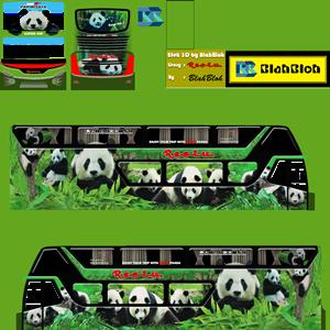 Livery Bussid Restu Panda SDD Bimasena Double Decker