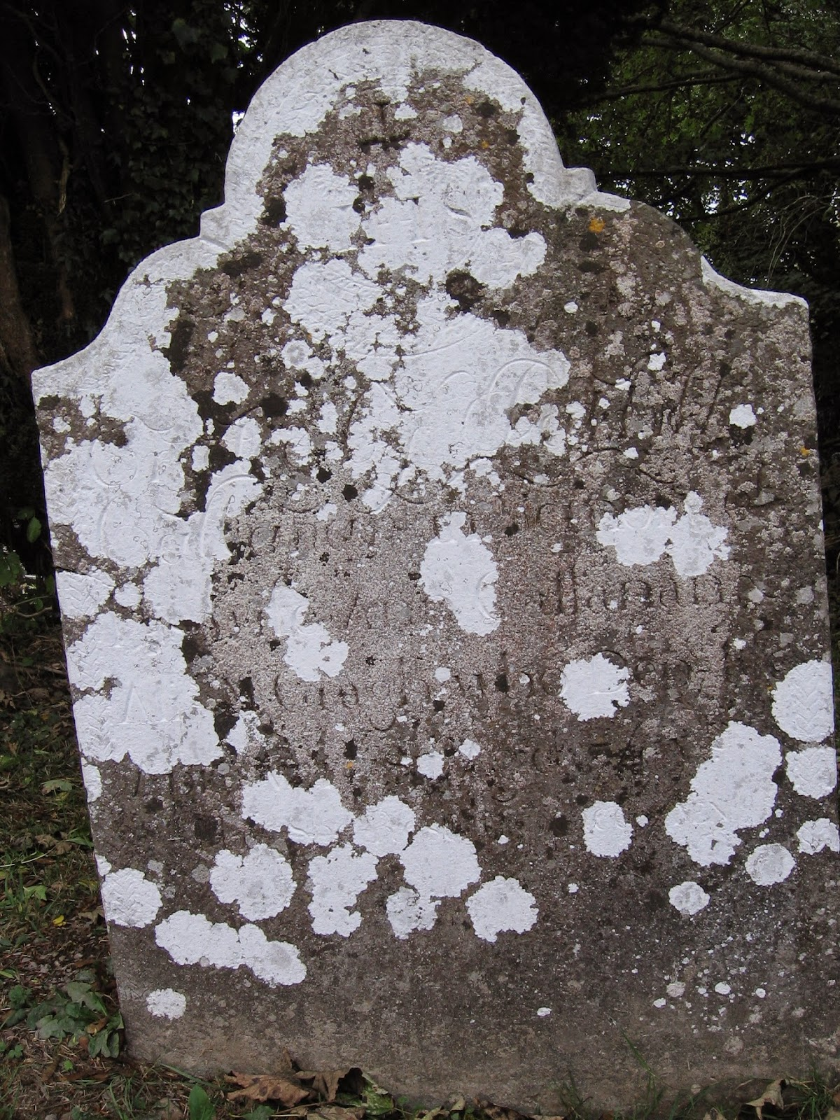 old headstone from church ruins at Castletown in County Limerick Ireland