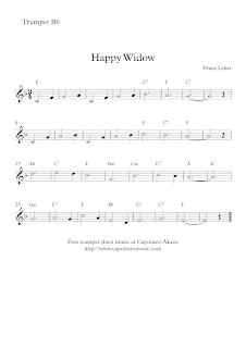 Merry Widow Waltz, trumpet sheet music