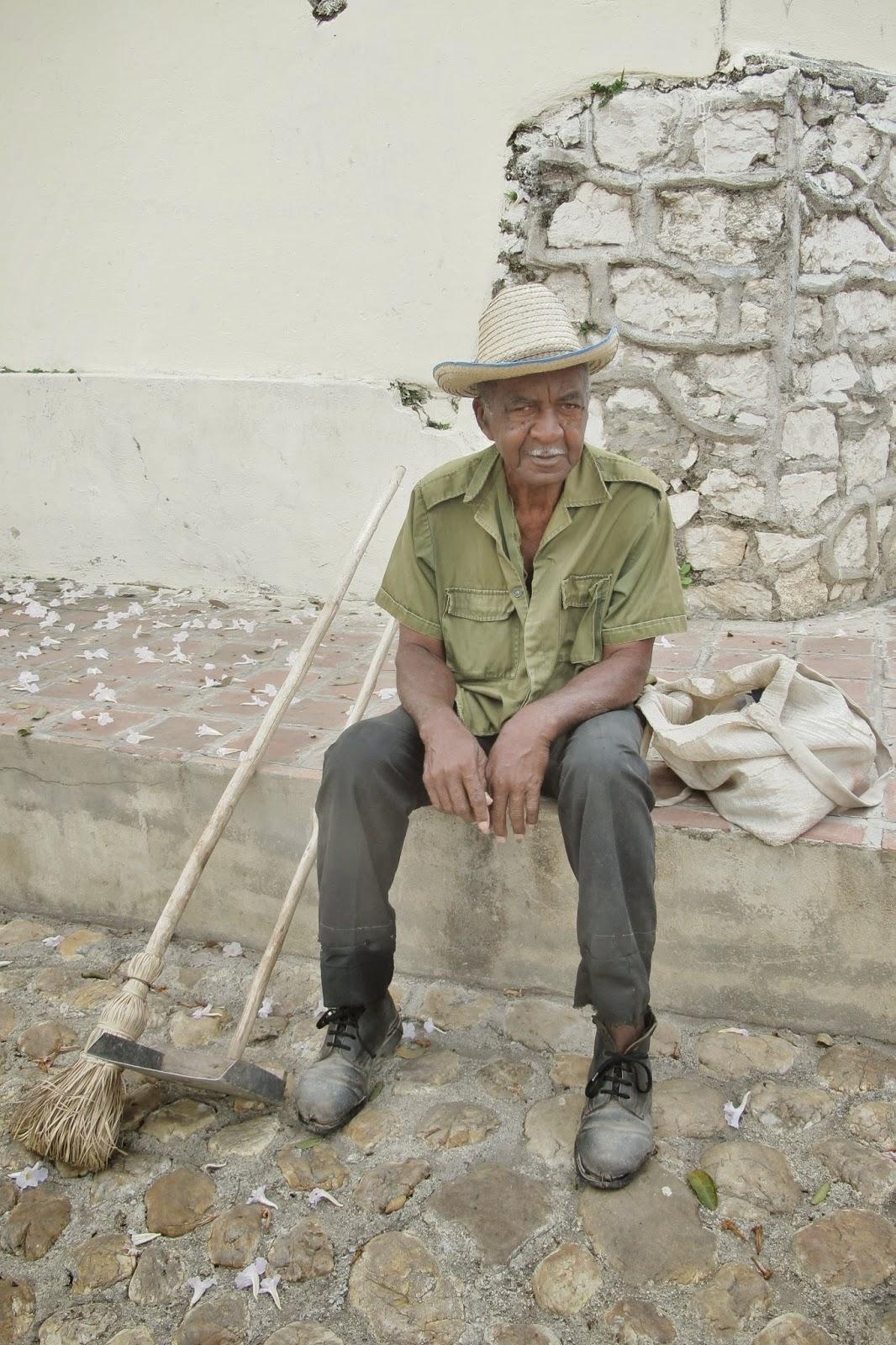 Um autêntico guajiro, nativo de Sanctu Spiritus, na região central de Cuba