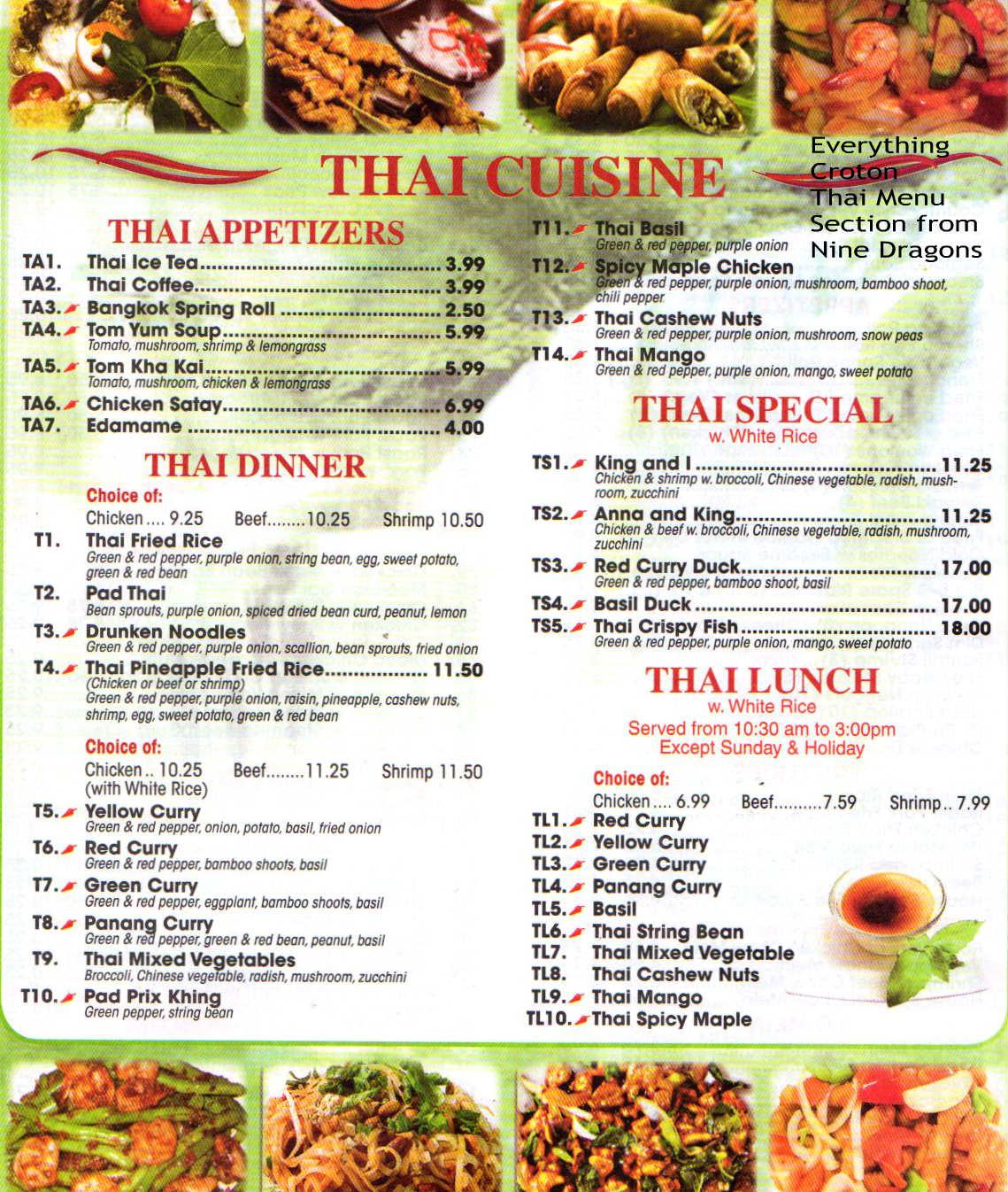 Croton Chinese Food