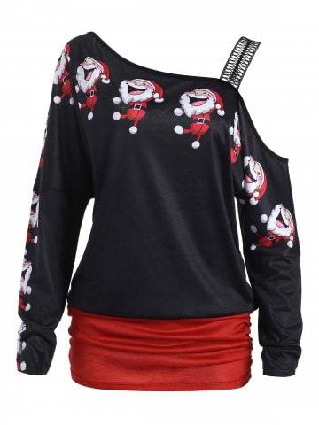 https://www.dresslily.com/santa-claus-laugh-printed-cold-shoulder-t-shirt-product2409828.html