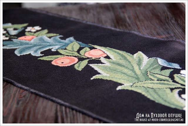 Вышивка цветы фрукты